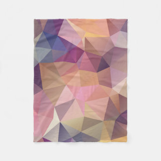 Polygon pink purple yellow background . fleece blanket