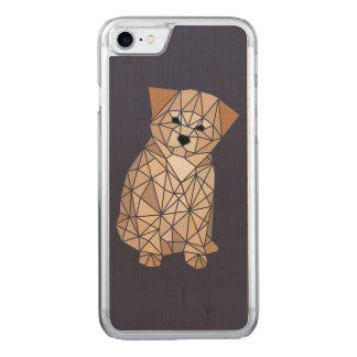 Polygon Puppy Carved iPhone 8/7 Case