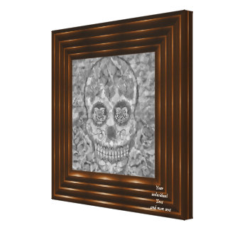 Polygon Skull silver Stretched Canvas Prints