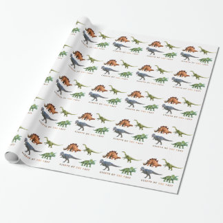 polygon trifishes graphic kind dinosaurs wrapping paper
