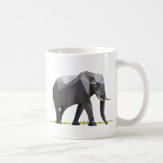 polygon trifishes graphic kind elephant coffee mug