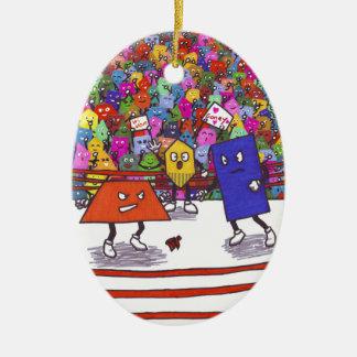 Polygon Wrestling Federation Christmas Ornament