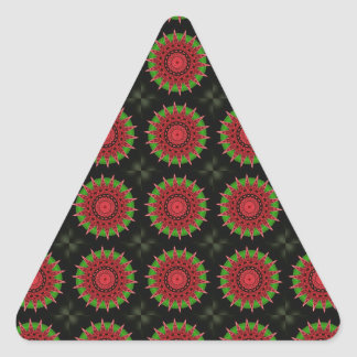 Polygonal abstract red star | triangle sticker