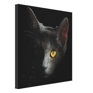 Polygonal Cat Canvas Print