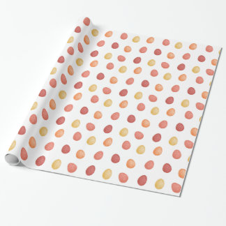 Polygonal eggs pattern in red colors wrapping paper