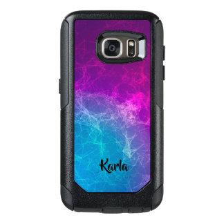 Polygonal Purple & Blue Modern Design 2 OtterBox Samsung Galaxy S7 Case