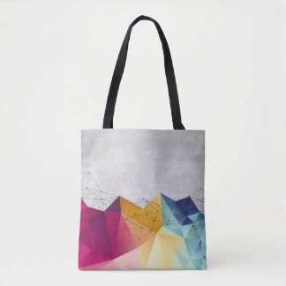 Polygons on Concrete Tote Bag