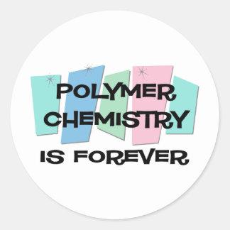 Polymer Chemistry Is Forever Round Sticker
