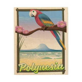Polynesia Beach travel poster