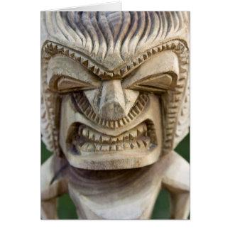 Polynesia, Kingdom of Tonga. Close-up of tiki Card