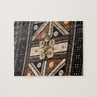 Polynesia, Kingdom of Tonga. Detail of tapa Jigsaw Puzzle