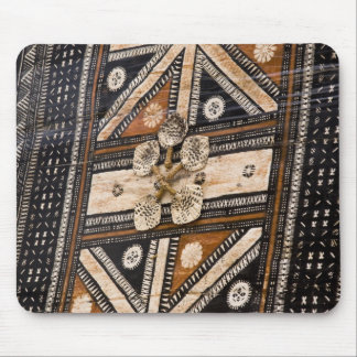 Polynesia, Kingdom of Tonga. Detail of tapa Mouse Mat