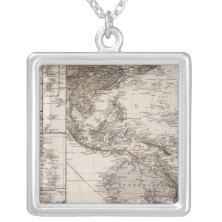 Polynesia Map Silver Plated Necklace