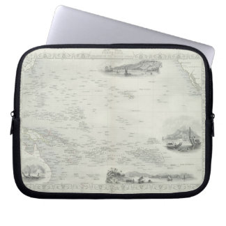 Polynesia or Islands in the Pacific Ocean, from a Laptop Sleeve