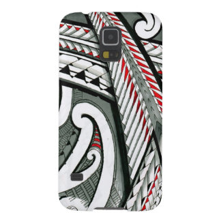 polynesian art red grey tattoo design island hawai galaxy s5 covers