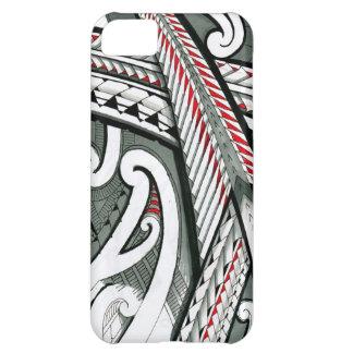 polynesian art red grey tattoo design island hawai iPhone 5C case