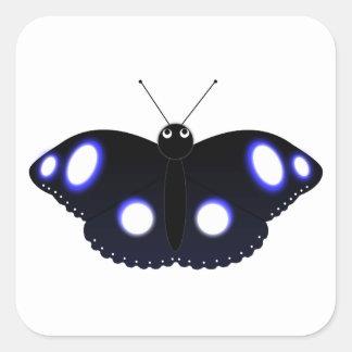 Polynesian Black Butterfly Square Sticker