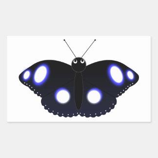 Polynesian Black Butterfly Rectangular Sticker