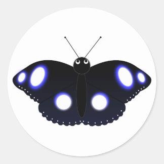 Polynesian Black Butterfly Sticker