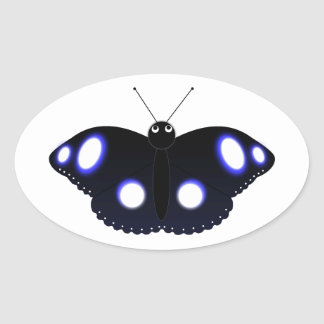 Polynesian Black Butterfly Sticker
