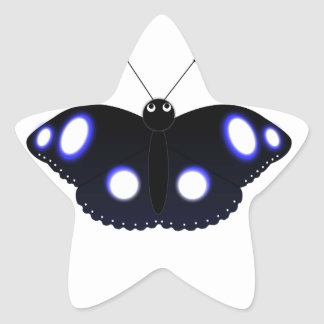 Polynesian Black Butterfly Stickers