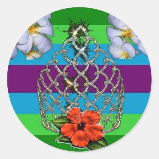 Polynesian Diva Pride Round Sticker