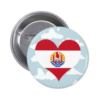Polynesian Flag on a cloudy background 2 Inch Round Button