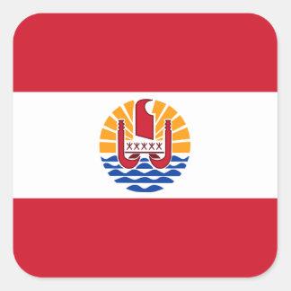 Polynesian Flag Square Sticker