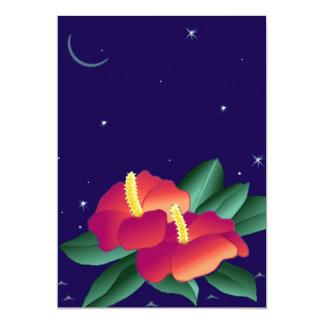 Polynesian Floral Tiki Tropical Nights Invitation