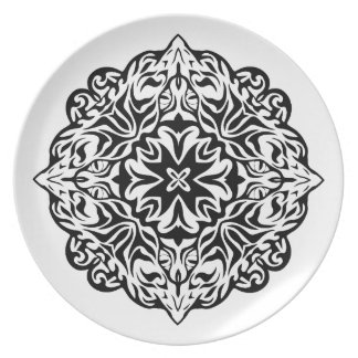 Polynesian Maori style tattoo mandala ethnic art Plate