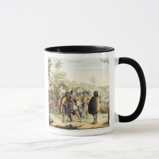 Polynesian Natives Greeting and Rubbing Noses, eng Mug