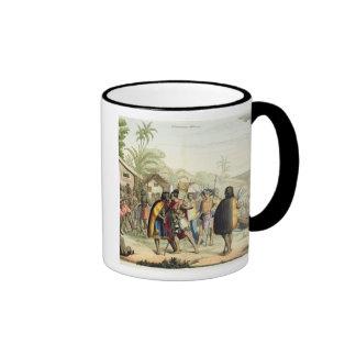 Polynesian Natives Greeting and Rubbing Noses, eng Coffee Mugs