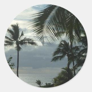 Polynesian Sunset Round Sticker