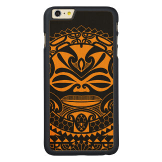 Polynesian tiki mask design carved® maple iPhone 6 plus case