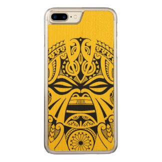 Polynesian tiki mask tattoo totem face carved iPhone 7 plus case