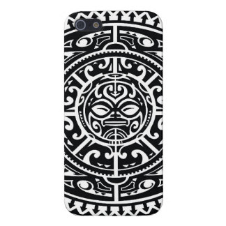 Polynesian Tribal Face 1 iPhone 5 Case