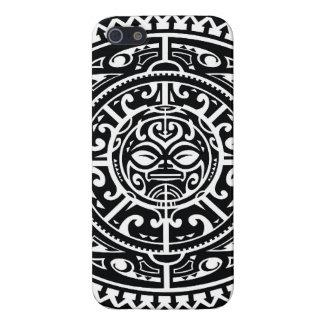 Polynesian Tribal Face 1 iPhone 5 Case