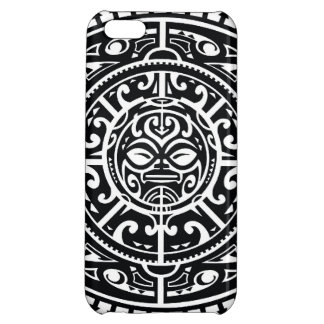 Polynesian Tribal Face 1 iPhone 5C Cases