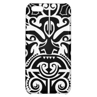 Polynesian Tribal Face 2 iPhone 5C Cover