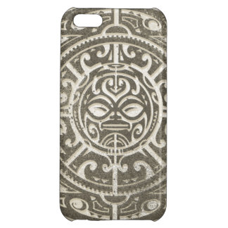 Polynesian Tribal Face Brown iPhone 5C Case
