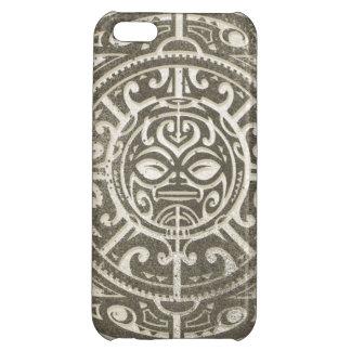 Polynesian Tribal Face Brown iPhone 5C Case