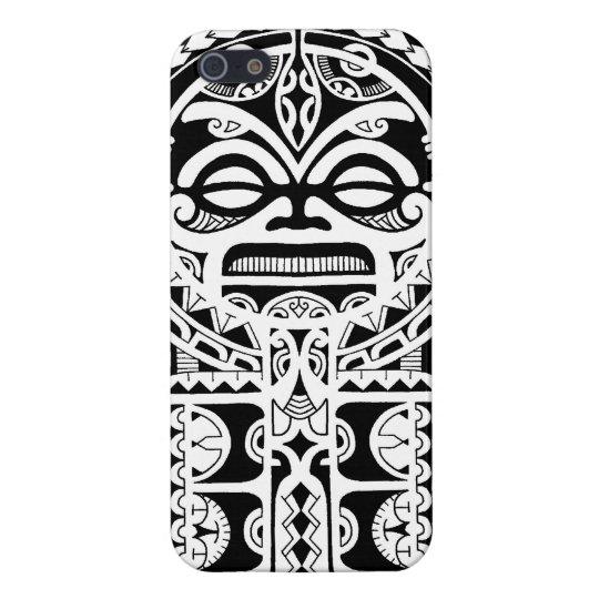 Polynesian tribal tattoo design with tiki mask iPhone 5 cover ...