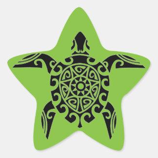 Polynesian Tribal Turtle designed Stickers