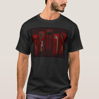 Polynesian Weapons Tikis On Back T-Shirt
