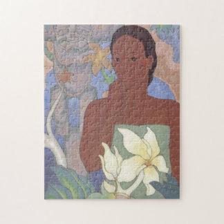 'Polynesian Woman and Tiki' - Arman Manookian Jigsaw Puzzle