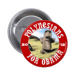 Polynesians for Obama 6 Cm Round Badge