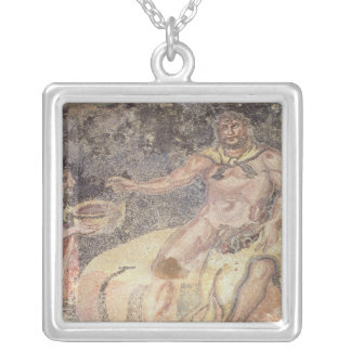 Polyphemus the Cyclops, Roman mosaic Silver Plated Necklace