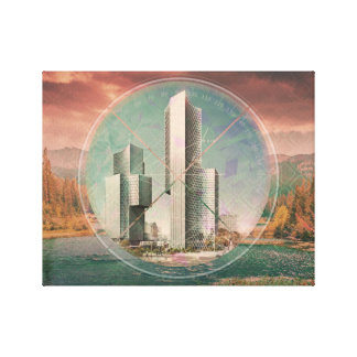 Polyscape City Landscape Canvas Print