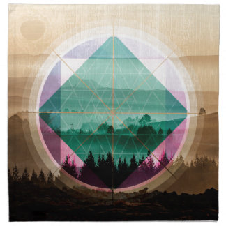 Polyscape landscape art napkin
