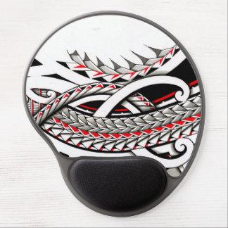 polytat tribal tatau spearhead red warrior symbols gel mouse pad